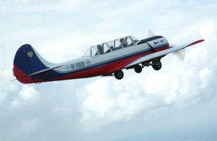 Полёт, пилотаж на ЯК-52