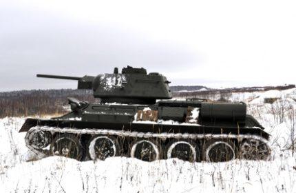 Т-34-76 в Московской битве. Боевой марш к Кашире.