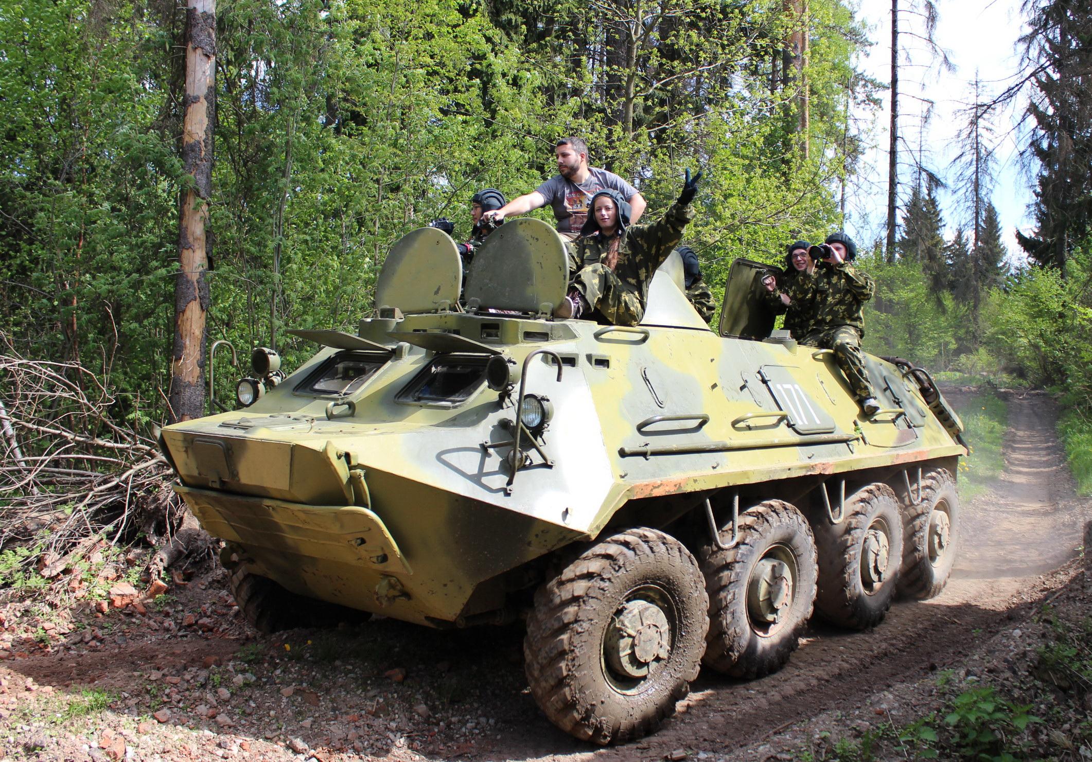 Заезды на БТР-60  и стрельба из Автомата Калашникова