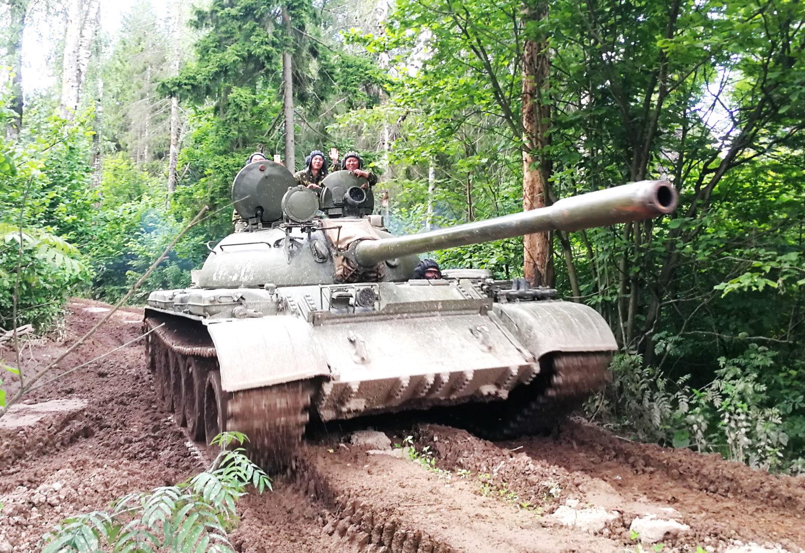 Заезды на танке Т-55 / Т-62 и стрельба из исторического оружия